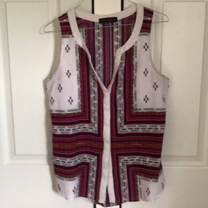 Colorful sleeveless top.  Color block style Size S